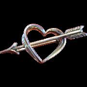 Beau Brooch Sterling Heart and Arrow