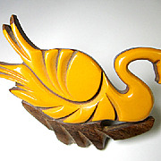 Bakelite laminated onto wood SWAN pin