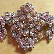 TRIFARI Etoile series  purple/lilac borealis lava rock brooch