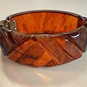 Vintage 30's BAKELITE Clamp Bracelet
