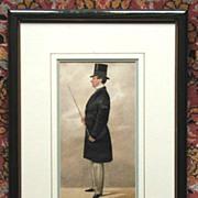 Coloured Silhouette - Gentleman
