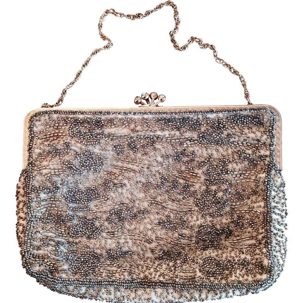 vintage beaded evening bag from rozsplace on ruby
