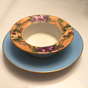 Antique Floral Design Ramekin – Depose Touraine T&V, France - Red Tag Sale Item