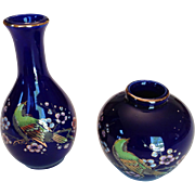 Pair of Hand-painted Japanese Vases