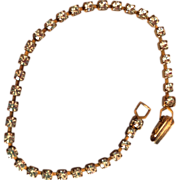 Dainty Vintage Rhinestone and Gold Tone Bracelet
