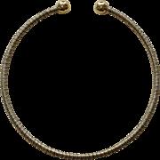 Vintage Gold and Silver Tone Bangle Bracelet