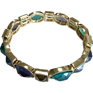 Vintage Bracelet Set with Colored Stones