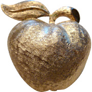Golden Apple Pin by Coro
