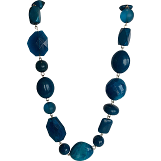 Beautiful Teal Blue Necklace – Adjustable Length