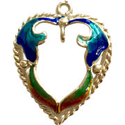 Beautiful 14 kt Heart with Colorful Enamel