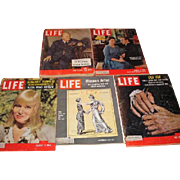 LIFE magazines. Winston Churchill, Princess Margaret and Tony, Women Vote 50th, May Britt and Khrushechev.