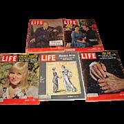 LIFE magazines. Winston Churchill, Princess Margaret and Tony, Women Vote 50th, May Britt and Khrushechev.