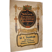 1910-1911 Calendar Advertising brochure annual catalog. W. E. Fiegenbaum Jeweler Optician Geneva Nebraska