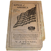 1916 V. J. Fennel Deshler Nebr. PACKARD piano advertising Songs of America with 48 star American Flag