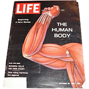 October 26, 1962 LIFE magazine with cover: The Human Body, Schirra and Voting machines
