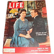 March 14, 1960 LIFE magazine Princess Margaret and Tony at Windsor Lodge