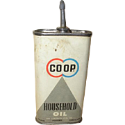 Lead top squeezable oil can. CO-OP Household Oil