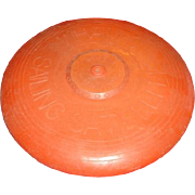 "An original ""Sailing Satellite"" by Wham-O Tournament Model.  Orange in color. Frisbee flying saucer."