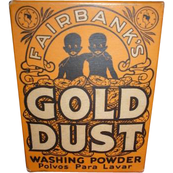 Vintage Black Americana Advertising Fairbanks Gold Dust Washing Powder  5 oz ounce box NIB new old stock