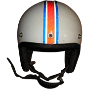 Crown PREMIER 500 vintage motorcycle automobile racing helmet.