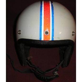 Crown PREMIER 500 vintage motorcycle automobile racing helmet.