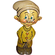 MARX 1938 Dopey one of the Seven Dwarfs wind-up toy tin lithograph