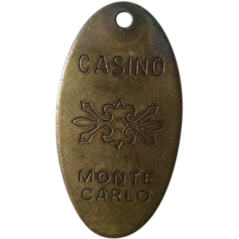 CASINO Monte Carlo brass key tag.