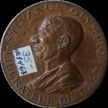Sylvanus Olympio Liberateur Du Togo.  Travail Liberte Patrie.  27 Avril 1960