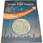 1959 Hammond's Handy Star Finder and home Planetarium.  1959 Science Fiction QUIZZLE activity ...