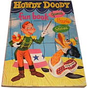 Authorized edition 1951 HOWDY DOODY Fun Book. 216925 Games, Puzzles and Stories.  Television Show