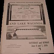 Glen Elder Dam and Lake Waconda Official Dedication Souvenir Booklet.  June 6 & 7, 1970 Glen Elder Kansas.