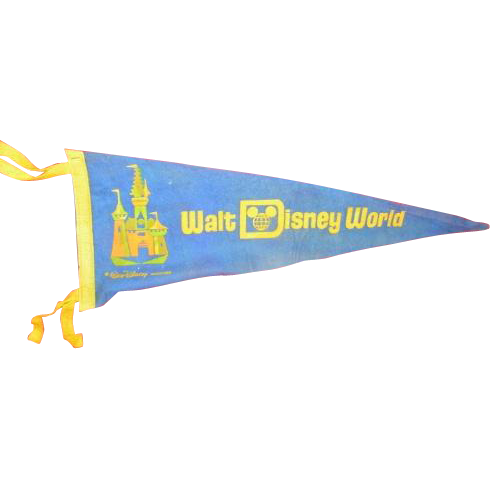 Very nice Walt Disney World felt pennant banner.  copyright Walt Disney Productions