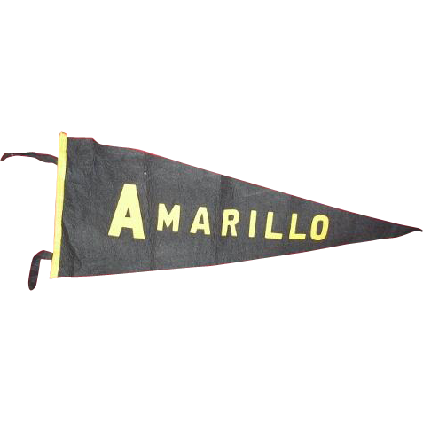 AMARILLO Texas High School felt banner pennant.