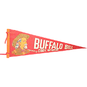 BUFFALO BILL, Cody Wyoming felt banner pennant