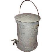 C of GA RR  Central of Georgia Railroad marked embossed galvanized water cooler