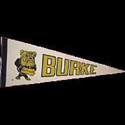 Omaha BURKE High School vintage Bulldogs felt pennant banner