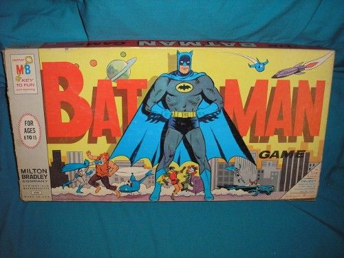 1966 vintage original BATMAN board game in the box. #4648