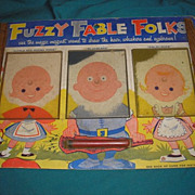 1958 FUZZY FABLE FOLKS model no. 15 Smethport Specialty Company. Vintage original card