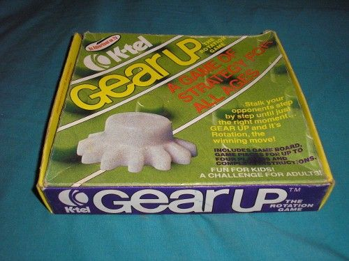 Very RARE 1976 K-Tel GEAR UP the rotation game table game.