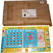 1971 BINGO board game by REGAL Games mfg. co.