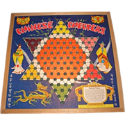 Chinese Checkers game board with marbles. Number 5345 made by Whitman Publishing Company