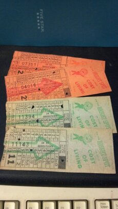 Ten Omaha & Council Bluffs Str. Ry. Company bus, street or horse car ticket stubs. Globe Ticket Company - Kansas City, Mo. Bright Spot token.