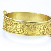 Archaeological Revival Bangle Bracelet, Victorian 1860s