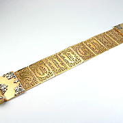 "A Very Fine Antique Gold & Platinum ""Souvenir"" Bracelet, c. 1850s – 1870s"