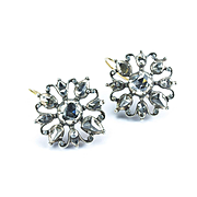 Georgian Diamond Waistcoat Button Earrings, 18th - 19th century