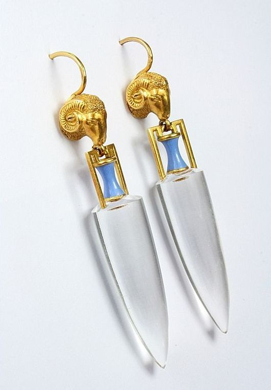 Superb Archaeological Revival Earrings, c.1870s