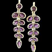 Sumptuous Rhodolite Garnet Earrings, France, late 1800s