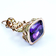 Superb Georgian Gold, Amethyst Fob, c.1820s