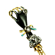 Rare Jeweled Gloved Hand Pin, late 1600s