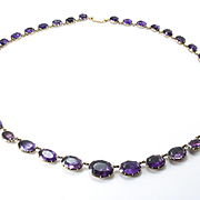Georgian Amethyst Rivière Necklace, French HM 1809